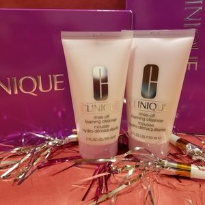 2 New Full-sz CLINIQUE Rinse-Off Foaming Cleansers